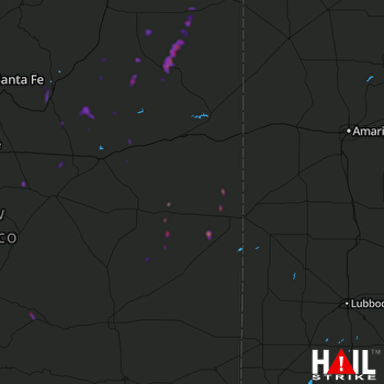 Hail Map CANNON AFB 08-21-2020