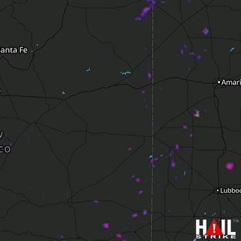 Hail Map Tatum, NM 07-27-2021