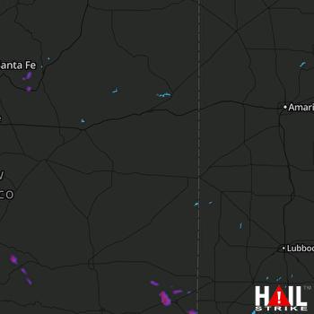 Hail Map Hobbs, NM 06-23-2017