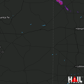 Hail Map CANNON AFB 06-22-2018
