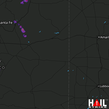 Hail Map Sapello, NM 08-06-2018