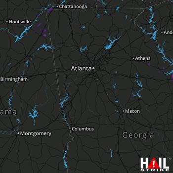 Hail Map Fort Payne, AL 06-27-2018