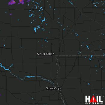 Hail Map Waubay, SD 08-24-2018