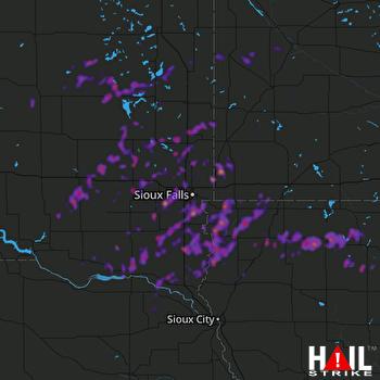 Hail Map Mankato, MN 06-27-2019