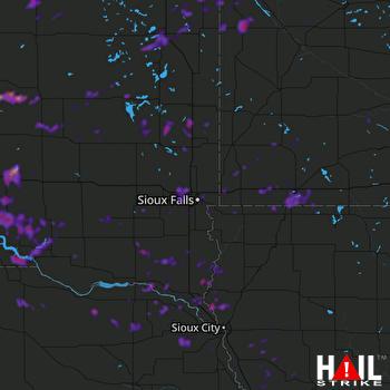 Hail Map Madison, MN 08-18-2019
