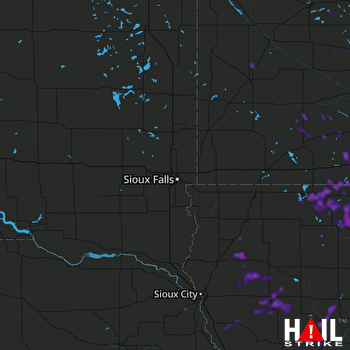 Hail Map Spirit Lake, IA 08-20-2019