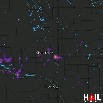 Hail Map Le Mars, IA 09-11-2019