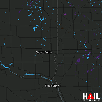 Hail Map Milbank, SD 09-18-2019