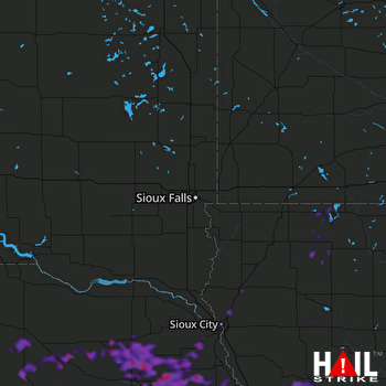 Hail Map Norfolk, NE 09-19-2019