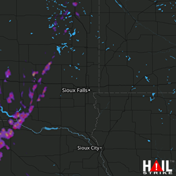 Hail Map Mitchell, SD 06-09-2020