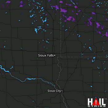 Hail Map New Ulm, MN 08-12-2020