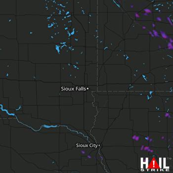 Hail Map New Ulm, MN 08-22-2020
