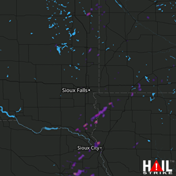 Hail Map North Sioux City, SD 10-11-2020