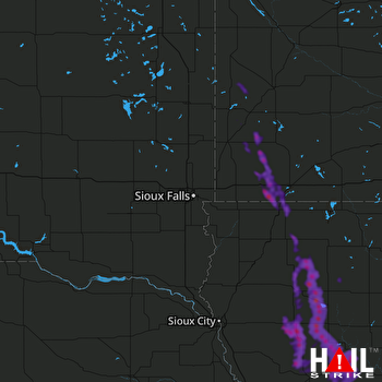 Hail Map Storm Lake, IA 06-17-2021