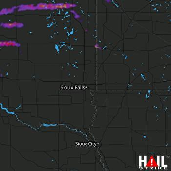 Hail Map Ortonville, MN 07-26-2021