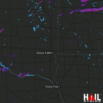 Hail Map Granite Falls, MN 09-17-2021