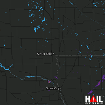 Hail Map Algona, IA 05-17-2017
