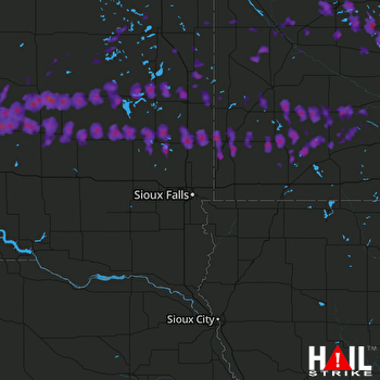 Hail Map Huron, SD 06-11-2017