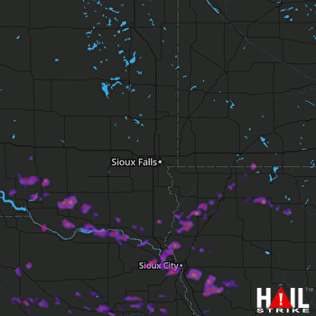 Hail Map Sioux City, IA 06-29-2017