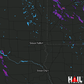 Hail Map Hutchinson, MN 07-10-2017