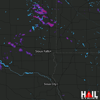 Hail Map Watertown, SD 07-12-2017