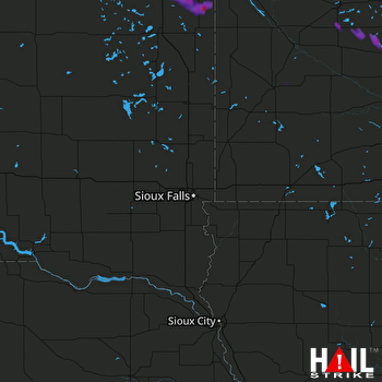 Hail Map Webster, SD 07-25-2017