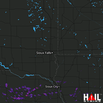Hail Map Wayne, NE 08-15-2017