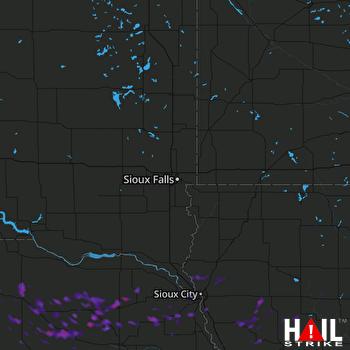 Hail Map Wayne, NE 08-15-2017
