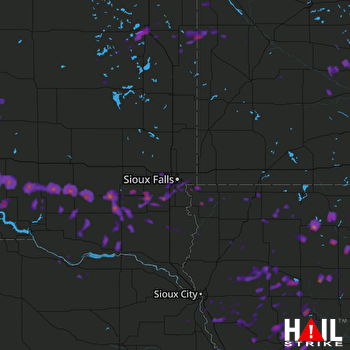 Hail Map Watertown, SD 08-21-2017