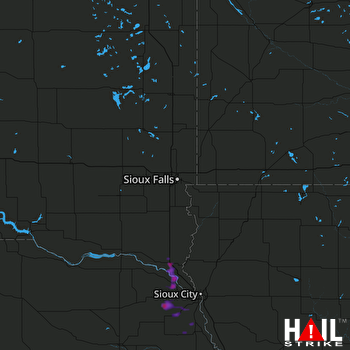 Hail Map Elk Point, SD 08-25-2017