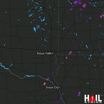 Hail Map West Point, NE 09-24-2017