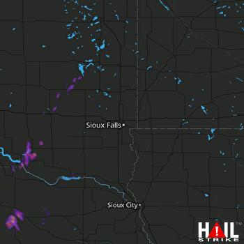 Hail Map Oneill, NE 10-02-2017