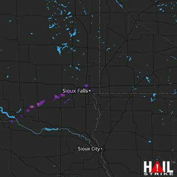 Hail Map Parkston, SD 04-13-2018