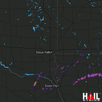 Hail Map Sioux Center, IA 05-01-2018