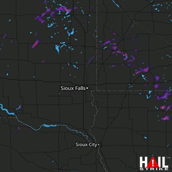 Hail Map Estherville, IA 05-23-2018