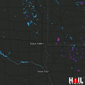 Hail Map Milford, IA 06-06-2018