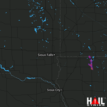 Hail Map Spencer, IA 06-09-2018