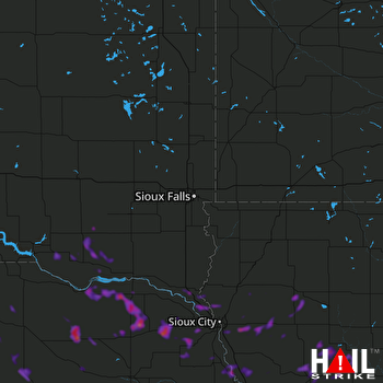 Hail Map Cherokee, IA 06-10-2018