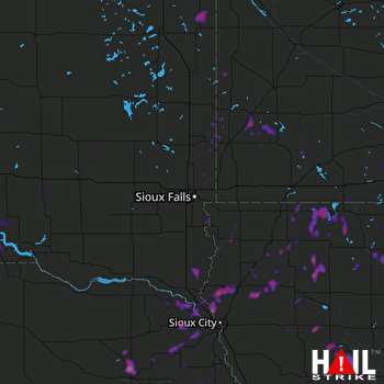 Hail Map Norfolk, NE 06-24-2018