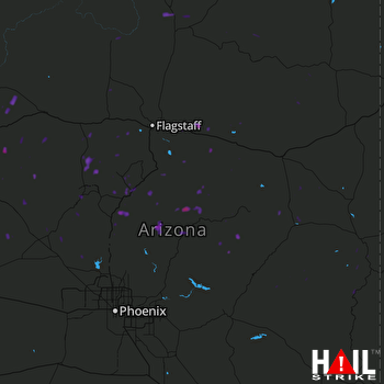 Hail Map Chino Valley, AZ 08-12-2017