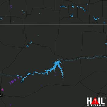 Hail Map GLASGOW 06-02-2017