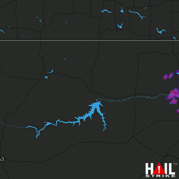 Hail Map Williston, ND 09-01-2017