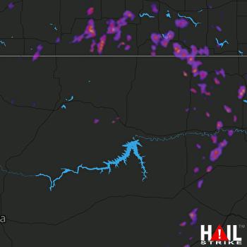 Hail Map Scobey, MT 06-07-2018