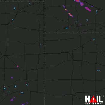 Hail Map North Platte, NE 08-15-2018