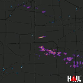Hail Map Imperial, NE 04-28-2019