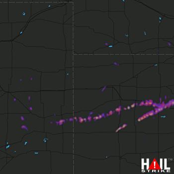 Hail Map Scott City, KS 05-29-2019