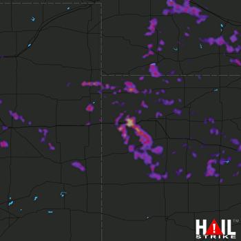 Hail Map North Platte, NE 06-09-2019