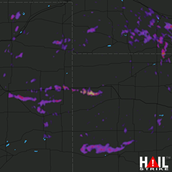 Hail Map Burlington, CO 07-09-2019