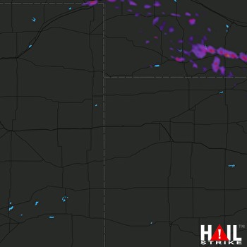 Hail Map Julesburg, CO 07-10-2019