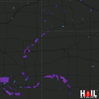 Hail Map Lamar, CO 07-21-2019